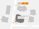 Kleine Karte Anfahrt Innenstadt